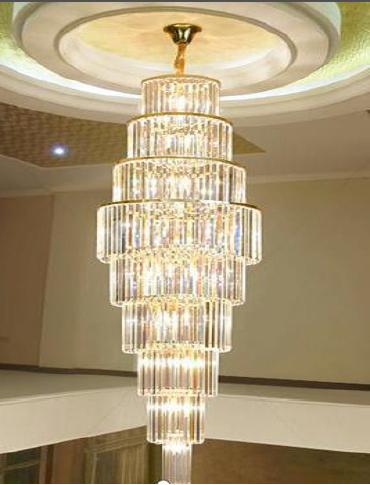Đèn chùm Trang Trí Pha Lê thông tầng