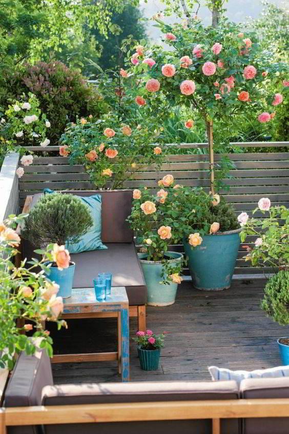 mẫu ban công trồng hoa đẹp