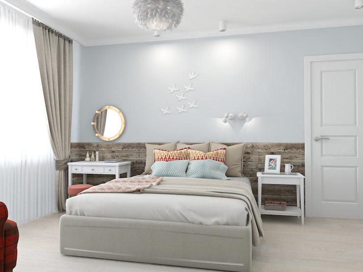 Phòng ngủ phong cách Bắc Âu bởi Ekaterina Donde Design Bắc Âu