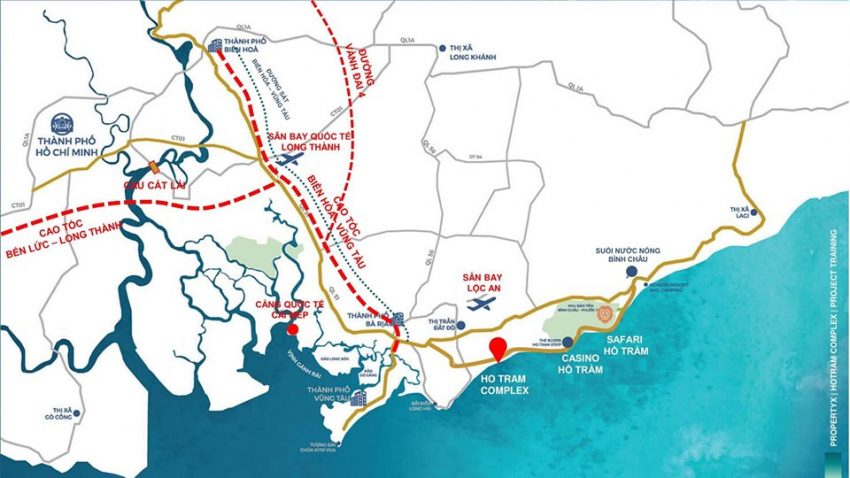 Tuyến giao thông dự án Hồ Tràm Complex