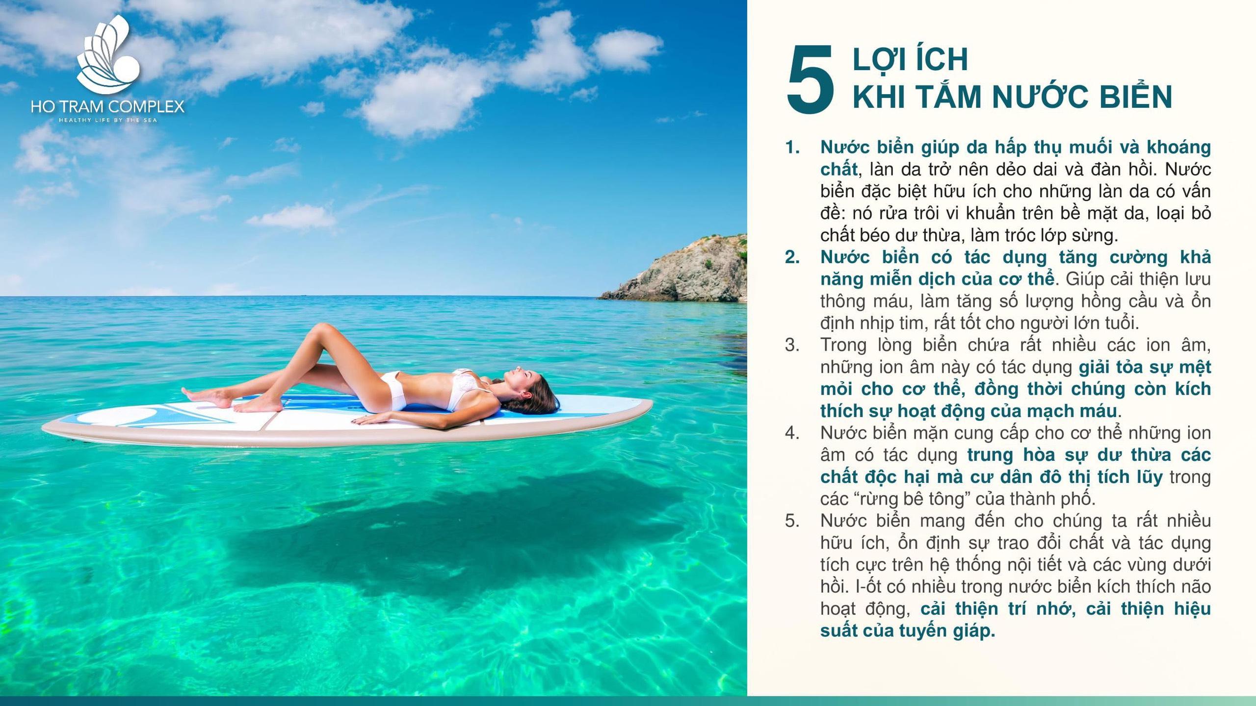 5 lợi ích từ việc tắm biển - Căn hộ Hồ Tràm Complex