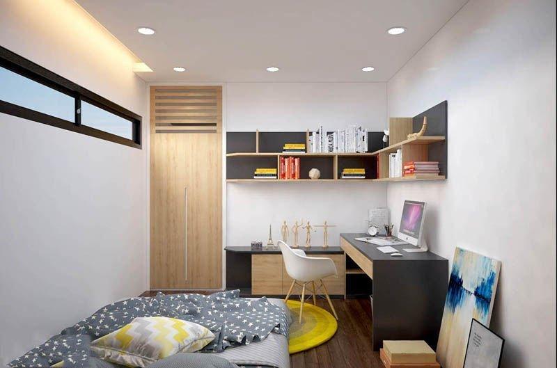 Phòng ngủ cho bé trai với không gian đáp ứng nhu cầu sử dụng sáng tạo của trẻ