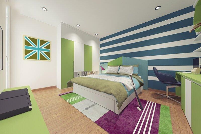 Thiết kế phòng bé trai cá tính 10 - 12 tuổi với những gam màu linh hoạt
