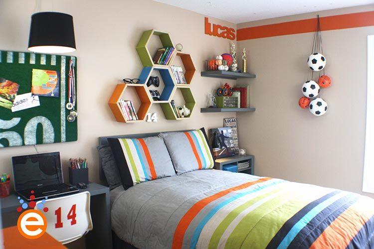 Thiết kế phòng con trai 10 - 12 tuổi màu sắc, hình khối hợp lý