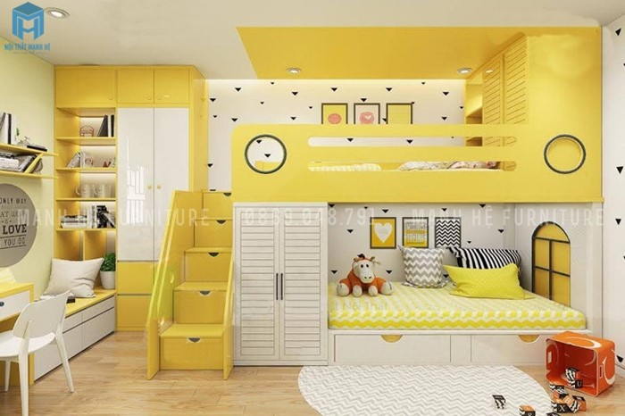 phòng ngủ có giường tầng đa năng