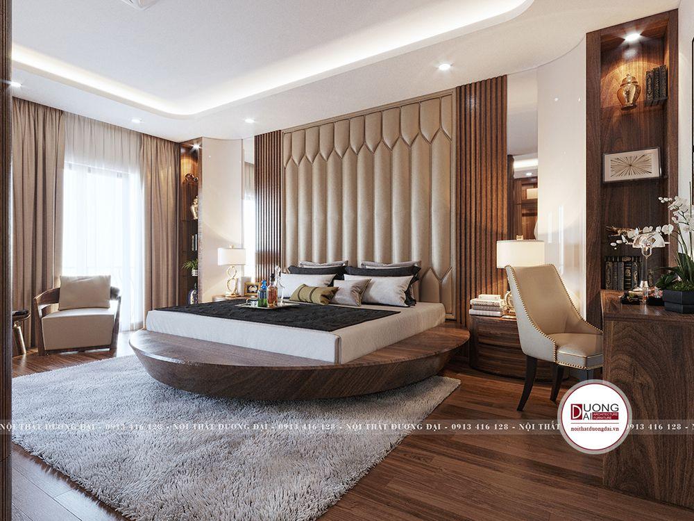 Giường gỗ tròn độc đáo và phá cách cho gia chủ quyền lực