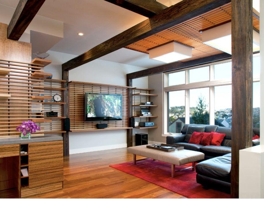 Sử dụng sàn, nội thất chất liệu gỗ tự nhiên đơn giản mà tinh tế
