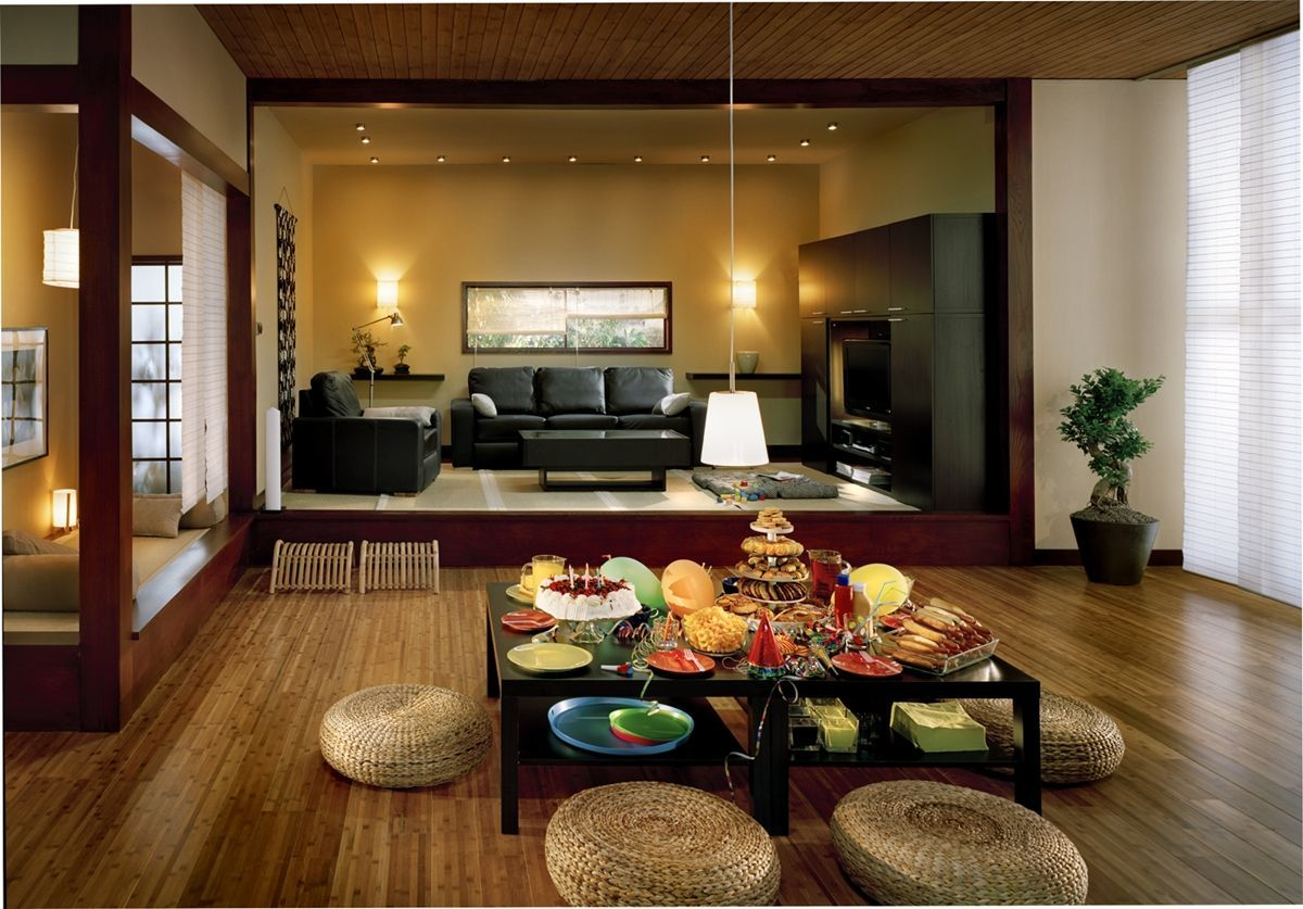 Đơn giản trong thiết kế nội thất, phòng khách phong cách Nhật Bản ấn tượng
