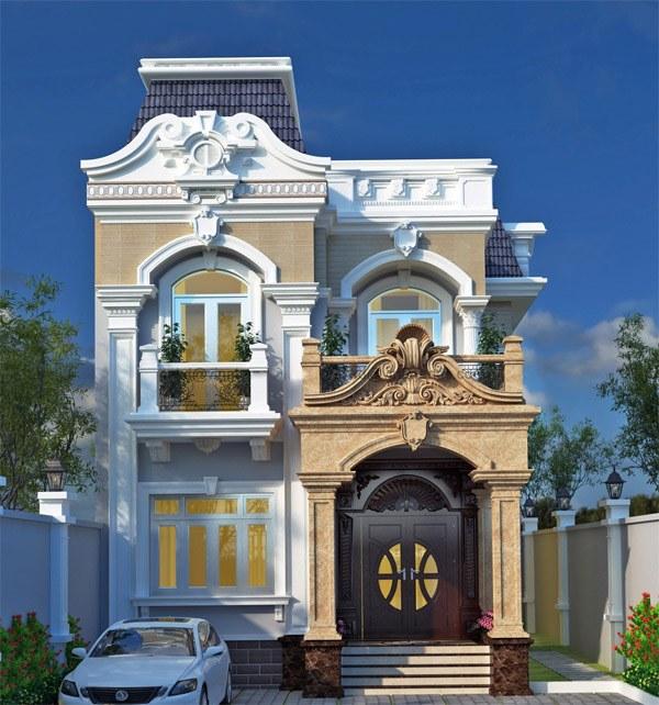 Nhà biệt thự 3 tầng mái thái