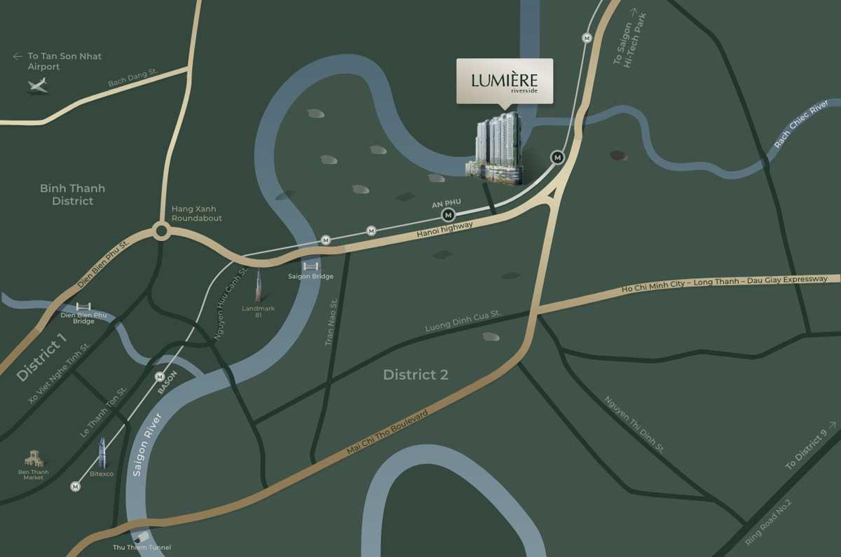 Bản đồ vị trí dự án Lumiere Riverside