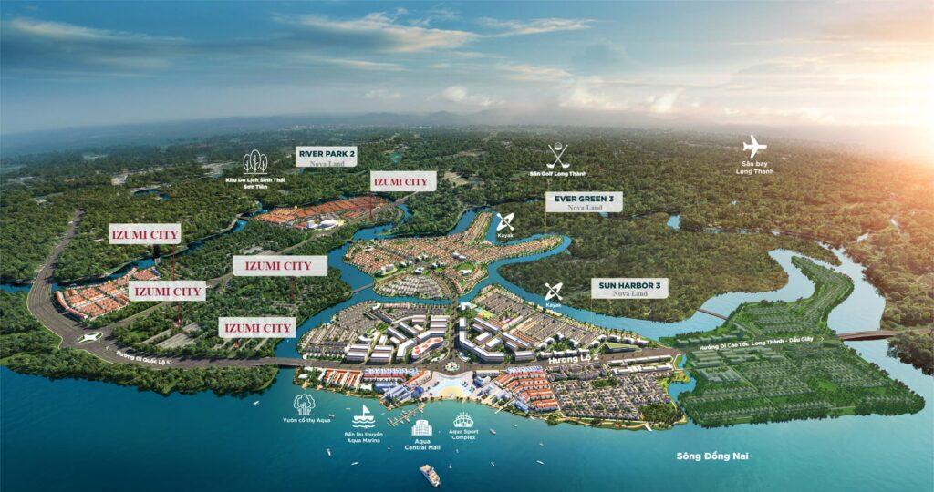 Vị trí dự án Izumi City Nam Long