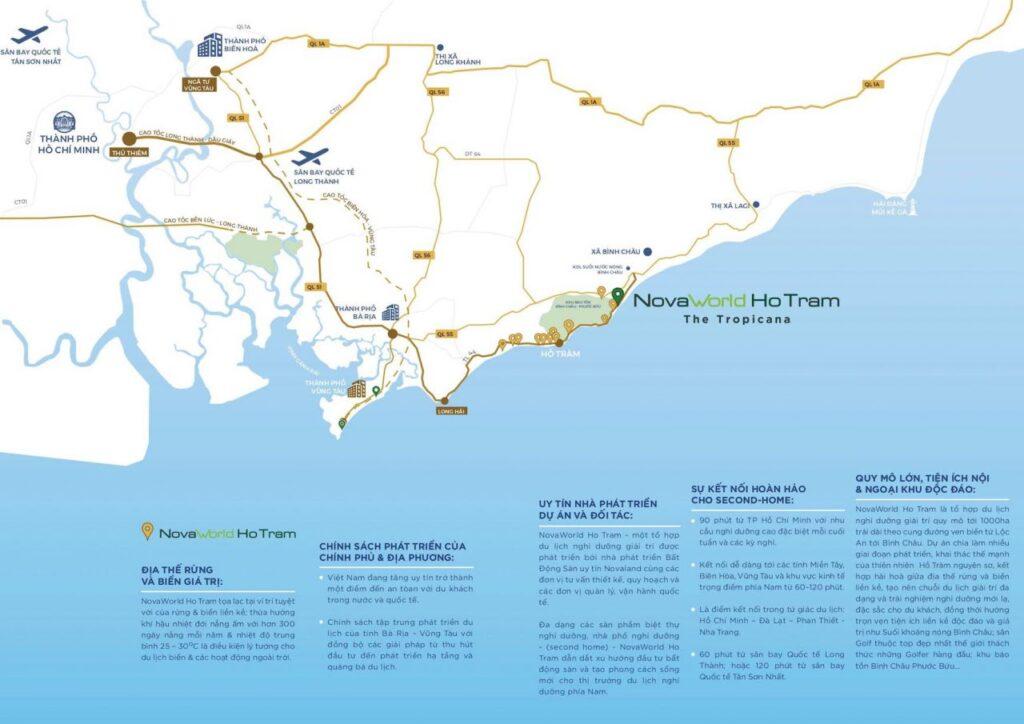 Vị trí dự án NovaWorld Hồ Tràm