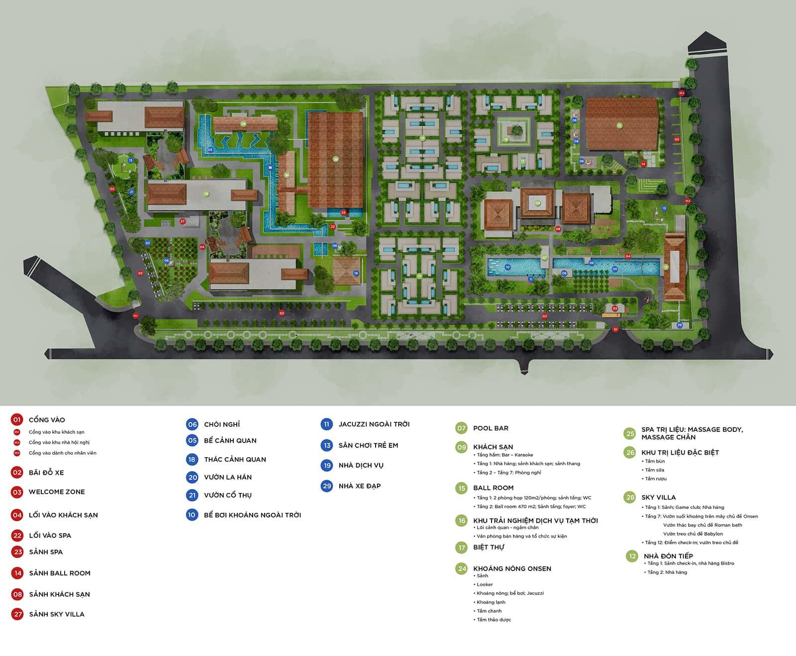 Mặt bằng dự ánMandala Sky Villas