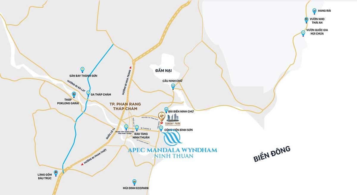 Vị trí dự án Apec Mandala Wyndham