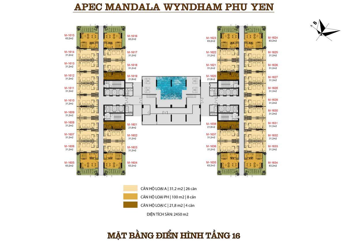 Mặt bằng dự án Apec Mandala Wyndham