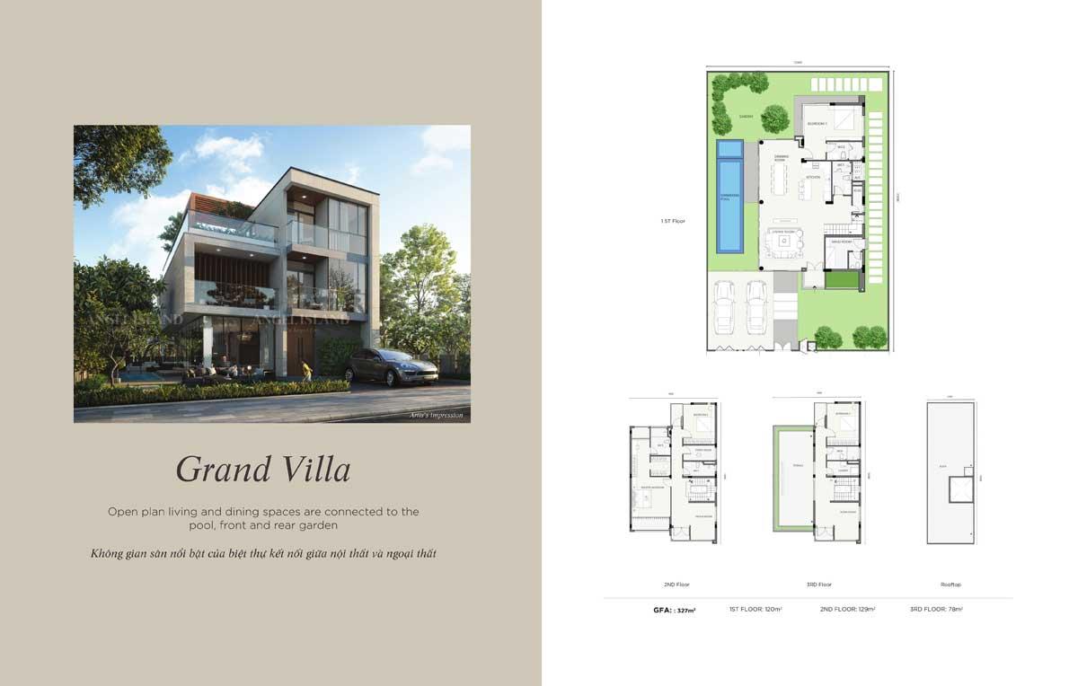 Mặt bằng Grand Villa dự án Angel Island