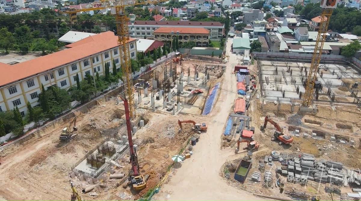 Các công trình đang dần hoàn thiện