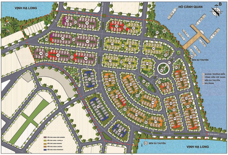 Mặt bằng dự án Aqua City Hạ Long